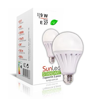 Лампа светодиодная 12W E27 Шар Standart 4100K