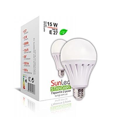 Лампа светодиодная 15W E27 Шар Standart