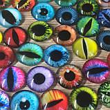 Стеклянные глаза кабашоны для игрушек 12 мм (пара), фото 2