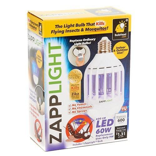 Антимоскітна лампа Zapp Light LED знищувач комарів та комах світлодіодна лампа 2 в 1