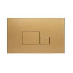 Змивна клавіша для бачка прихованого монтажу NKP квадрат золотий (261х167х12 мм)