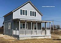 Дачный домик 6,0м х 6,0м с мансардой и террассой, фото 1