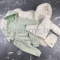 Детская демисезонная куртка-пуффер цвет белый