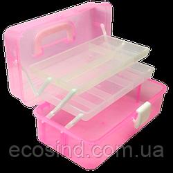 Большая пластиковая тара (чемоданчик, контейнер, органайзер) для рукоделия и шитья (СИНДТЕКС-1010)