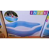 Детский надувной бассейн Intex 229*229*56 см большой семейный для дома и дачи, для детей и малышей 57495, фото 5