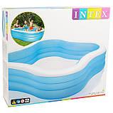 Детский надувной бассейн Intex 229*229*56 см большой семейный для дома и дачи, для детей и малышей 57495, фото 3