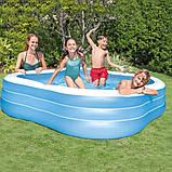Детский надувной бассейн Intex 229*229*56 см большой семейный для дома и дачи, для детей и малышей 57495, фото 2