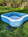 Детский надувной бассейн Intex 229*229*56 см большой семейный для дома и дачи, для детей и малышей 57495, фото 7