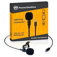 Петличный микрофон PowerDeWise PDW-L, Lightning коннектор для iPhone и iPad