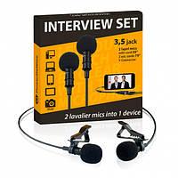 Двойной петличный микрофон PowerDeWise PDW-2