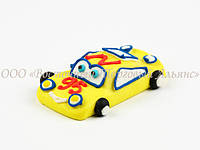 Фигурки из мастики - Машинка жёлтая - Большая