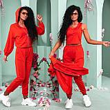 Червоний жіночий прогулянковий костюм трійка 15-776-2, фото 5