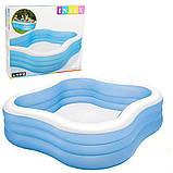 Детский надувной бассейн Intex 229*229*56 см большой семейный для дома и дачи, для детей и малышей 57495, фото 4