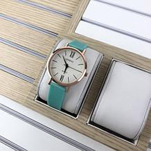 Наручний годинник Geneva Silicone Lightly Blue-Gold-White