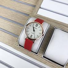 Наручний годинник Geneva Silicone Red-Gold-White