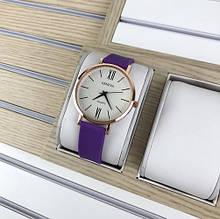 Наручний годинник Geneva Silicone Violet-Gold-White