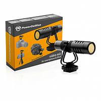 PowerDeWise Videomic Kit - Направленный Микрофон для Камеры и Смартфона (комплект)