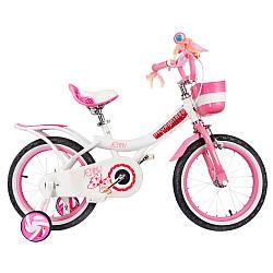 """Велосипед детский для девочки RoyalBaby JENNY GIRLS 14"""", OFFICIAL UA, белый / от 4 до 5 лет / Рост 95-120 см"""