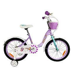 """Велосипед детский для девочки RoyalBaby Chipmunk MM Girls 14"""", OFFICIAL UA, фиолетовый рост: 95-120 см"""
