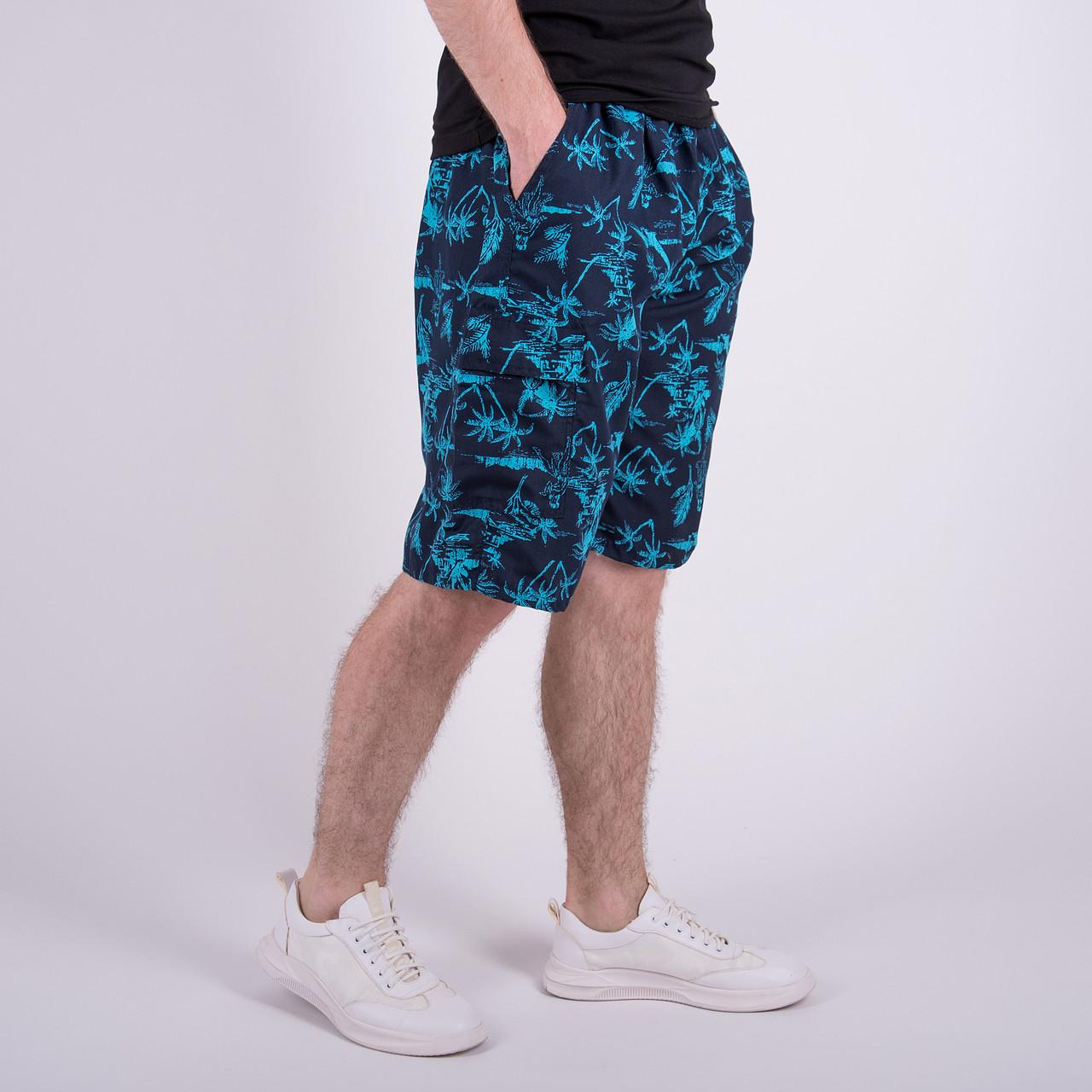 Чоловічі бриджі (плащівка), синього кольору. Напівбатал