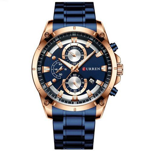 Наручний годинник Curren 8360 Blue-Gold