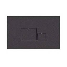 Змивна клавіша для бачка прихованого монтажу NKP квадрат чорний (262х167х12 мм)