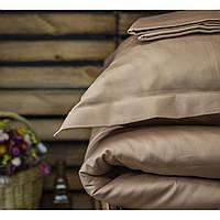 Постельное белье полуторное Комильфо люкс-сатин 160х220 бежевый KT1225