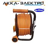 Подовжувач на котушці з виносною розеткою 30м 2х1.5мм2 SVITTEX SV-2050, фото 3