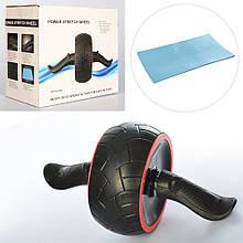 Ролик (колесо) для м'язів преса з поворотним механізмом Profi (MS 2211)
