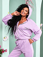 Спортивний жіночий костюм трійка з брюками топом і кофтою 021/01, фото 1