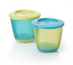 Набор контейнеров для хранения питания Tommee Tippee (2шт.), цвет голубой