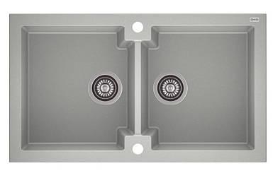 Кухонна мийка з клапаном AXIS HONEST, сіра, 1.147.120.59