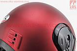 Шолом закритий HK-221 - ЧЕРВОНИЙ матовий + комір (можливі подряпини, дефекти фарбування), фото 7