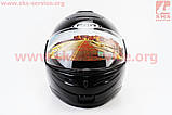 Шлем закрытый с откидным подбородком HF-108 M- ЧЕРНЫЙ глянец, фото 4