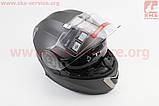 Шлем закрытый с откидным подбородком+очки BLD-160 S- СЕРЫЙ матовый, фото 2