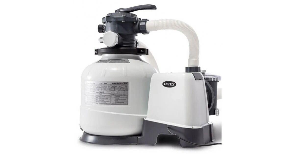 Пісочний фільтр-насос для механічного очищення води в басейні з резервуаром для піску Intex 26648