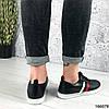 Стильные Женские кроссовки черные из эко кожи, фото 4