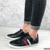 Стильные Женские кроссовки черные из эко кожи, фото 6