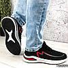 Стильні Кросівки чоловічі чорні з червоним тканинні на шнурках, фото 5