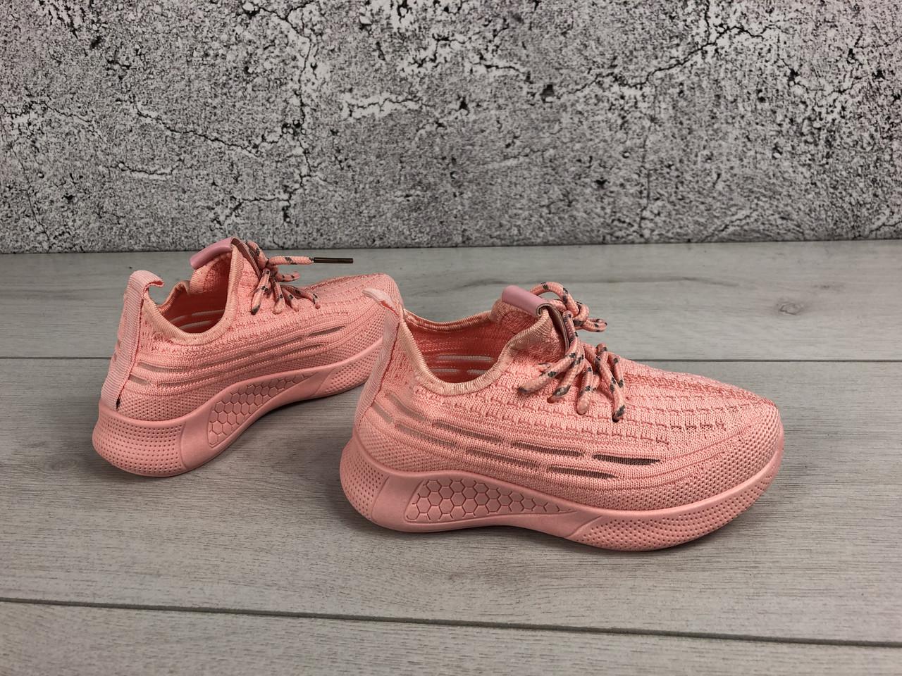 Стильные Кроссовки детские тексильные розового цвета, размеры с 27 по 36