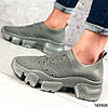 Стильні Жіночі кросівки сірі з текстилю, фото 2