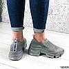 Стильні Жіночі кросівки сірі з текстилю, фото 3