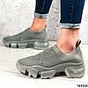 Стильні Жіночі кросівки сірі з текстилю, фото 4