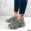 Стильні Жіночі кросівки сірі з текстилю, фото 5