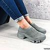 Стильні Жіночі кросівки сірі з текстилю, фото 7