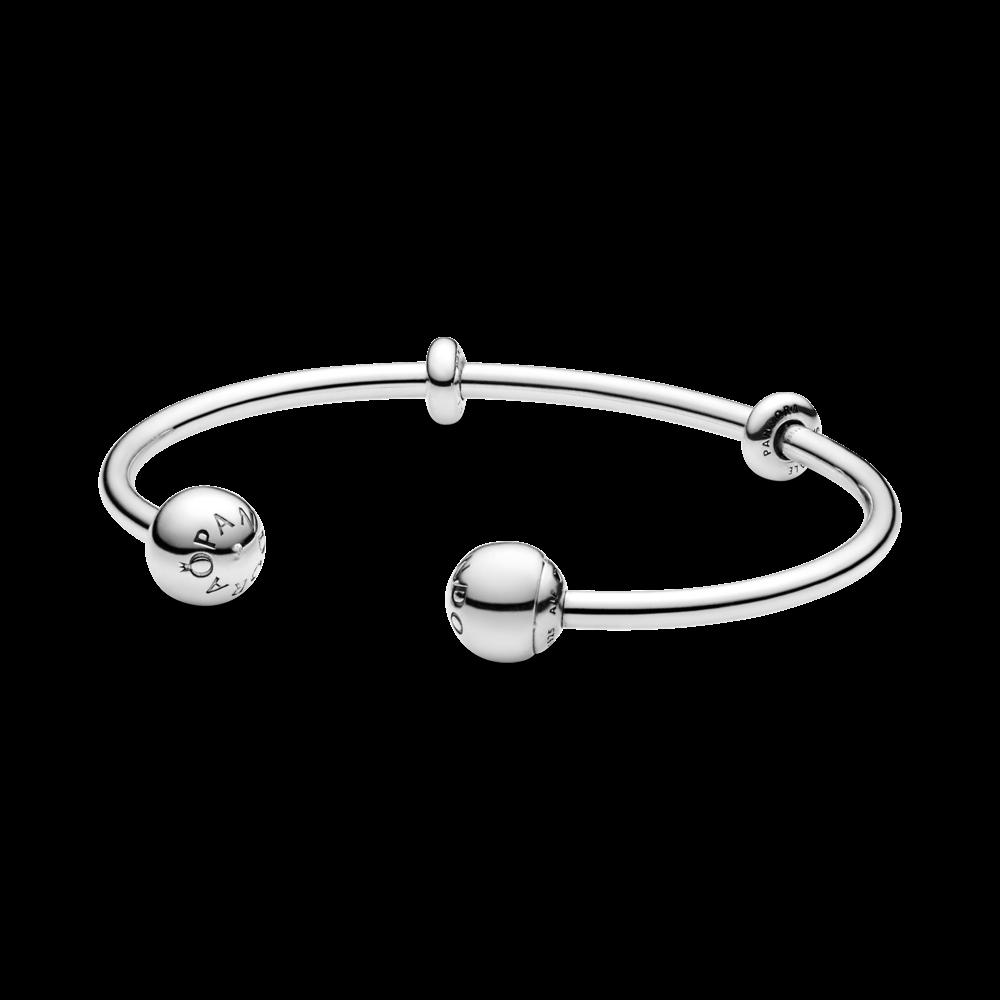 Жіночий Срібний жорсткий браслет стиль Pandora Зимовий серце