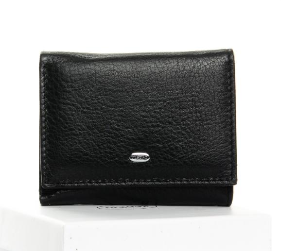 Жіночий компактний шкіряний гаманець .
