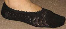 Носки женские невидимые ажурные Bross черные