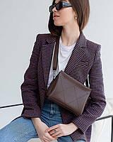 Жіноча сумка Стелла екошкіра 27*16*7 см шоколадний