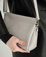 Жіноча сумка Стелла екошкіра 27*16*7 см сірий